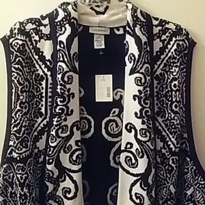 NWT Catherines Open Front Sweater Vest 4X